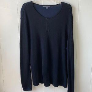 John VARVATOS MENS Henley Silk size XXL Navy Blue